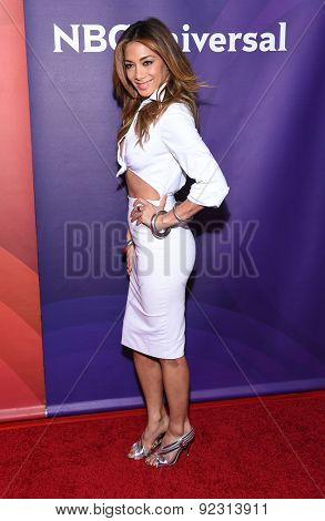 LOS ANGELES - APR 02:  Nicole Scherzinger arrives to the NBCUniversal's Summer Press Day 2015  on April 02, 2015 in Hollywood, CA