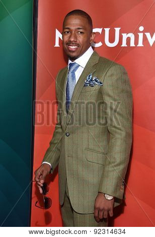 LOS ANGELES - APR 02:  NIck Cannon arrives to the NBCUniversal's Summer Press Day 2015  on April 02, 2015 in Hollywood, CA
