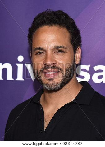LOS ANGELES - APR 02:  Daniel Sunjata arrives to the NBCUniversal's Summer Press Day 2015  on April 02, 2015 in Hollywood, CA