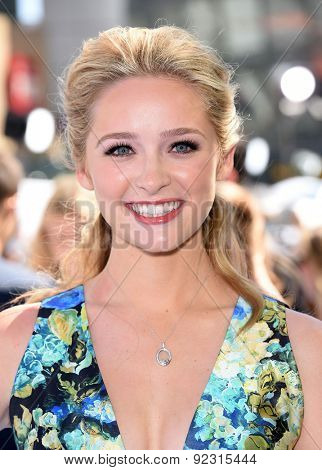 LOS ANGELES - APR 12:  Greer Grammer arrives to the MTV Movie Awards 2015  on April 12, 2015 in Hollywood, CA
