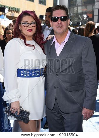 LOS ANGELES - APR 12:  Amber Portwood & Matt Baier arrives to the MTV Movie Awards 2015  on April 12, 2015 in Hollywood, CA