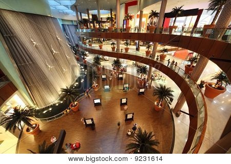 Interior View Of Dubai Mall, One Of Largest Mall In The World