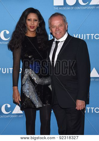LOS ANGELES - MAY 30:  Wolfgang Puck & Gelila Assefa arrives to the MOCA Annual Gala 2015  on May 30, 2015 in Hollywood, CA