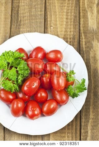 Organic Tomatoes And Parsley