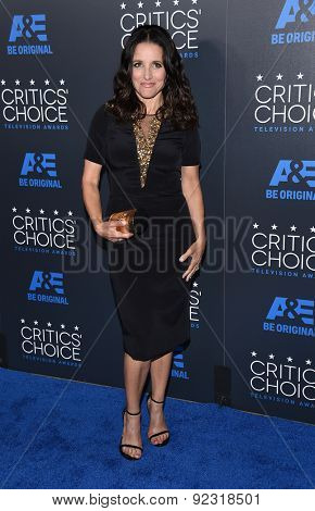 LOS ANGELES - MAY 31:  Julia Louis-Dreyfus arrives to the Critic's Choice Television Awards 2015  on May 31, 2015 in Hollywood, CA