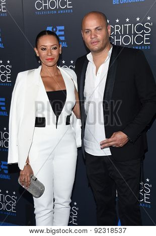 LOS ANGELES - MAY 31:  Mel B & Stephen Belafonte arrives to the Critic's Choice Television Awards 2015  on May 31, 2015 in Hollywood, CA