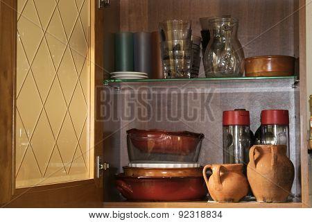 Interior Of A Domestic Cupboard
