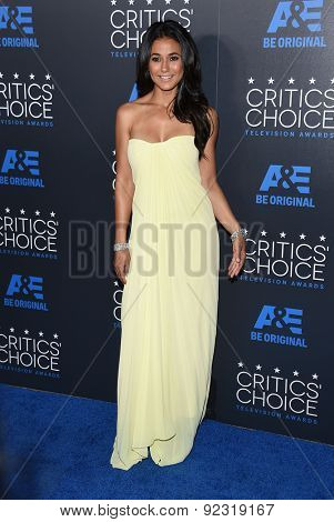 LOS ANGELES - MAY 31:  Emmanuelle Chriqui arrives to the Critic's Choice Television Awards 2015  on May 31, 2015 in Hollywood, CA