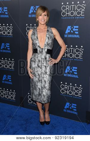LOS ANGELES - MAY 31:  Felicity Huffman arrives to the Critic's Choice Television Awards 2015  on May 31, 2015 in Hollywood, CA