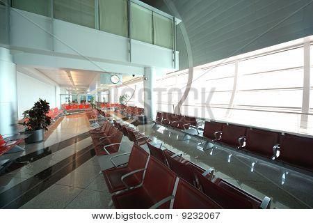 Interior Of Dubai International Airport In Dubai, Uae.