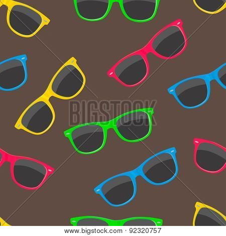 Colorful Sunglasses Seamless Pattern