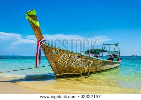 Traditional thai longtail boat in Thailand