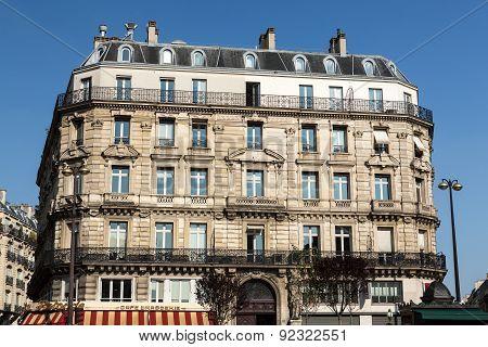 Paris - d'Estienne d'Orves Square. Typical parisian architecture