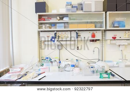 The image of chemical-biological laboratory equipment