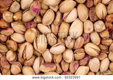 Close up of fresh pistachios.