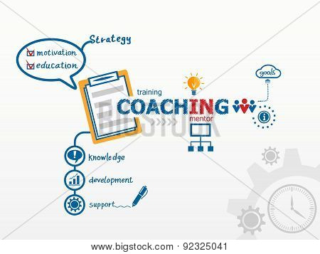 Coaching Concept And Notebook.