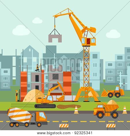 Building Work Illustration