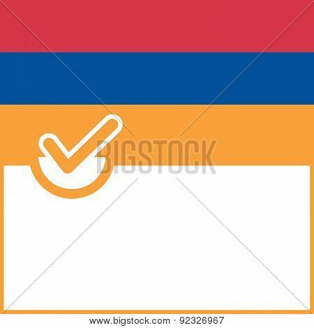 Voting Symbol Armenia Flag