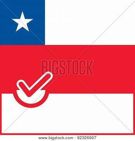 Voting Symbol Chile Flag