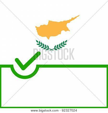 Voting Symbol Cyprus Flag