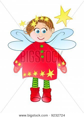 Angel with red socks