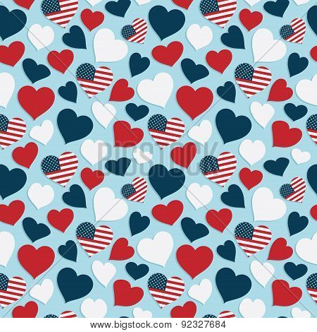 Usa Heart Pattern