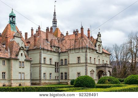 Hunting castle of Count Schonborn in Carpaty. In the past - Beregvar Village, Zakarpattja Region, Uk