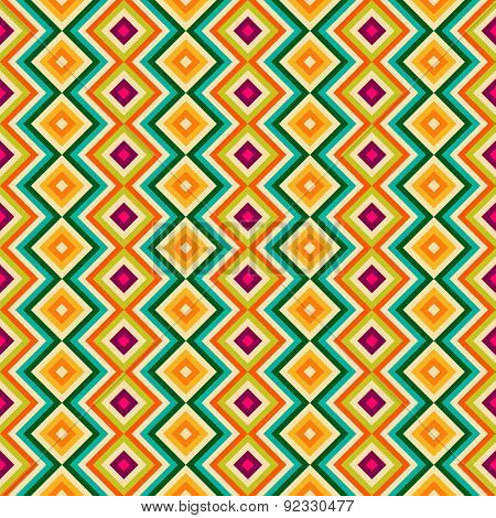 Ethnic tribal zig zag and rhombus seamless pattern