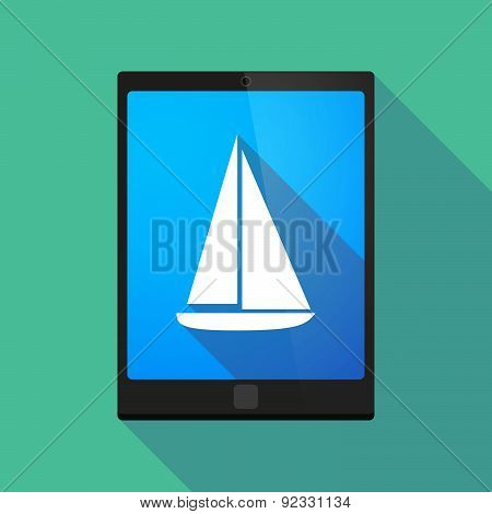 Tablet Pc Icon With A Ship