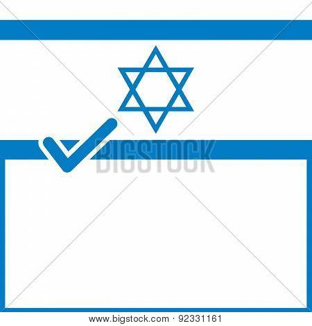 Voting Symbol Israel Flag