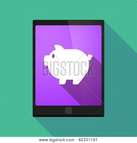 Tablet Pc Icon With A Pig