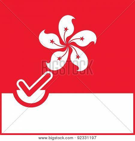 Voting Symbol Hong Kong Flag