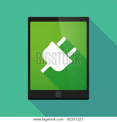 Tablet Pc Icon With A Plug