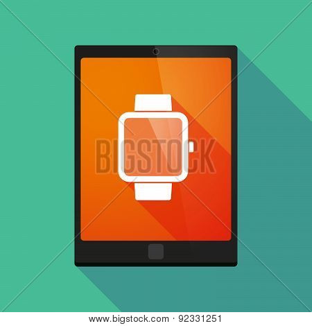 Tablet Pc Icon With A Smart Watch