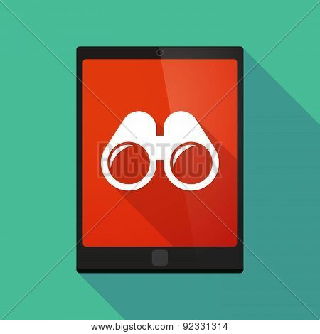 Tablet Pc Icon With A Binoculars