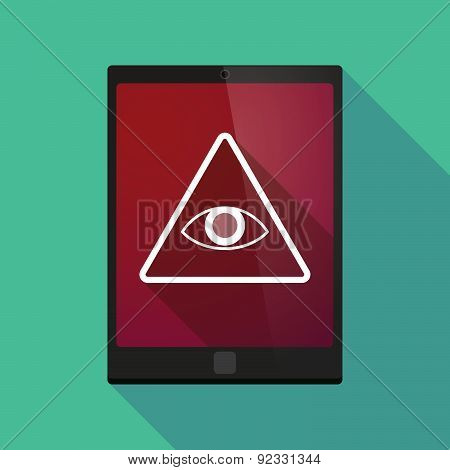 Tablet Pc Icon With An All Seeing Eye