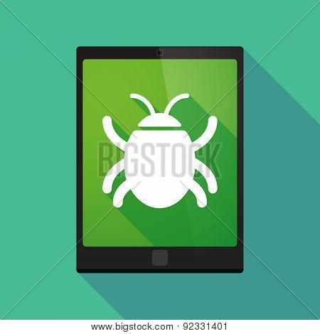 Tablet Pc Icon With A Bug