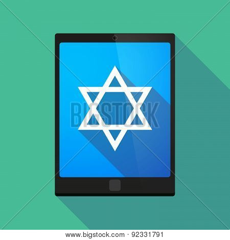 Tablet Pc Icon With A David Star