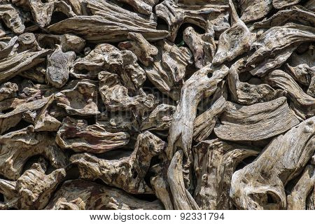 abstract decay wood logs