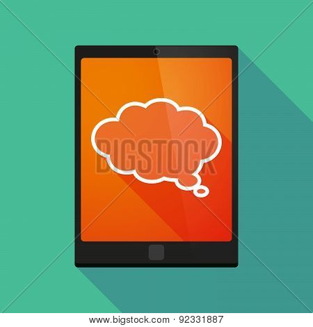 Tablet Pc Icon With A Cloud Comic Balloon