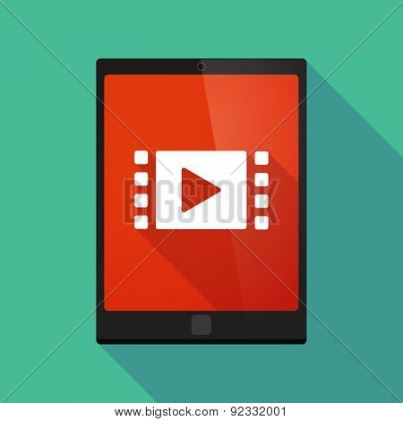Tablet Pc Icon With A Multimedia Sign
