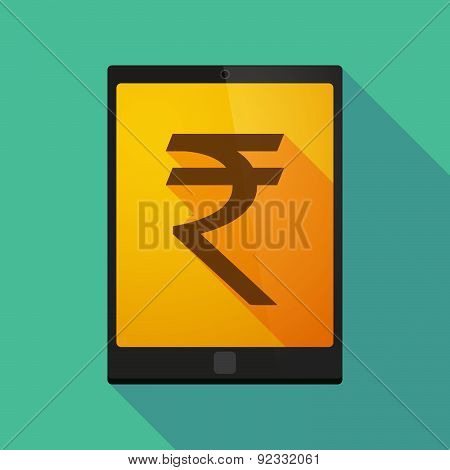 Tablet Pc Icon With A Rupee Sign