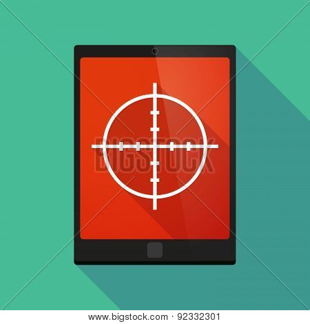 Tablet Pc Icon With A Crosshair