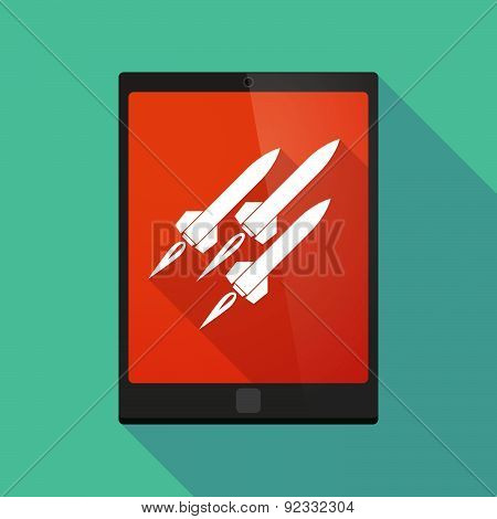 Tablet Pc Icon With Missiles
