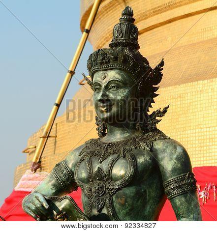 Angel Statue At Golden Mount In Bangkok