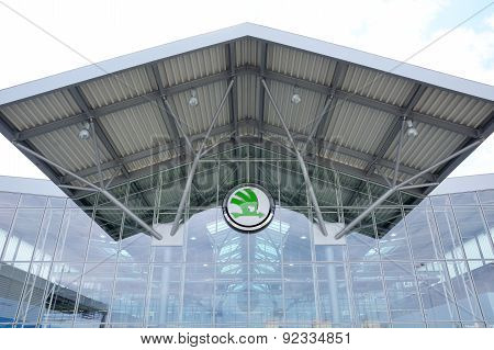 Entrance To The Skoda Auto Assembly Hall