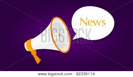 news megaphone announcement loud buble