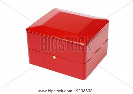Red Jewellery Box on White Background