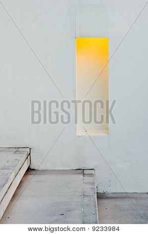 Yellow Light ,white Stairs