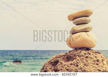 Stones Balance Inspiration Wellness Concept